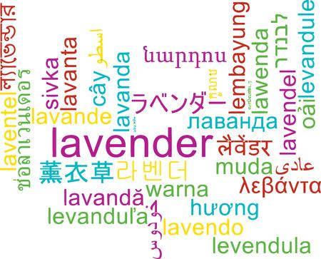 multilanguage: Background concept wordcloud multilanguage international many language illustration of lavender