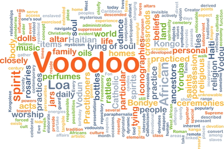 practiced: Background concept wordcloud illustration of voodoo