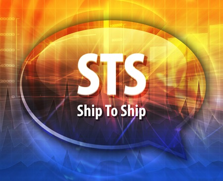 term: word speech bubble illustration of business acronym term STS Ship To Ship