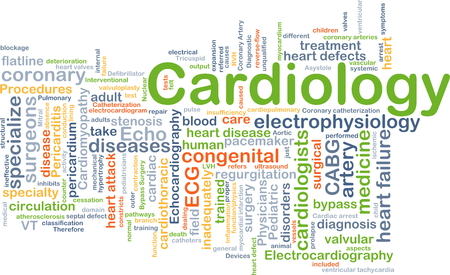 heart bypass: Background concept wordcloud illustration of cardiology Stock Photo