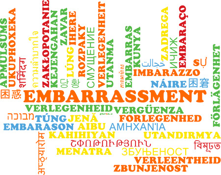 embarrassment: Background concept wordcloud multilanguage international many language illustration of embarrassment