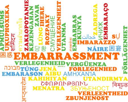 awkwardness: Background concept wordcloud multilanguage international many language illustration of embarrassment