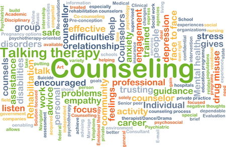 trusting: Background concept wordcloud illustration of counseling