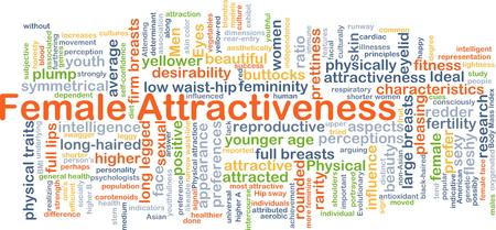 女性の魅力の背景概念 wordcloud イラスト 写真素材