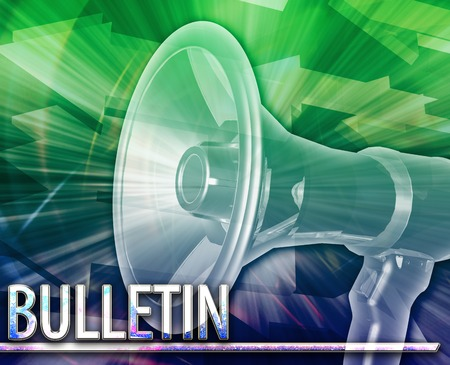 amplify: Abstract background digital collage concept illustration Bulletin announcement