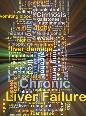 gallstones: Background concept wordcloud illustration of chronic liver failure glowing light