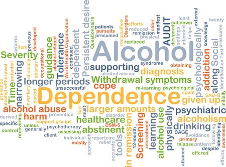 remission: Sfondo concetto wordcloud illustrazione della dipendenza da alcol