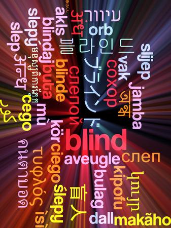 unable: Background concept wordcloud multilanguage international many language illustration of blind glowing light