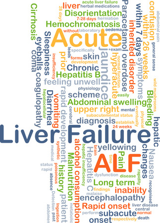 onset: Background concept wordcloud illustration of acute liver failure ALF
