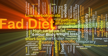 carb: Background concept wordcloud illustration of fad diet glowing light