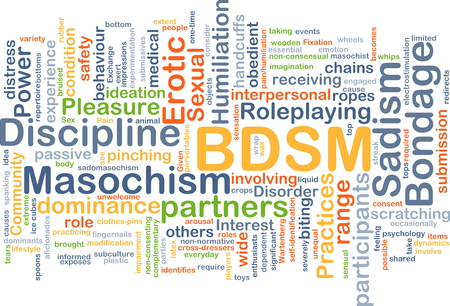 Background concept wordcloud illustration of BDSM Stock Photo
