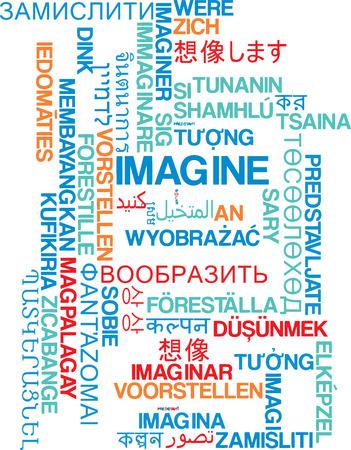 multiple image: Background concept wordcloud multilanguage international many language illustration of imagine