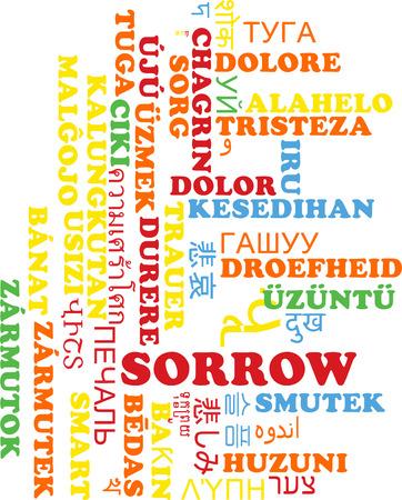 pity: Background concept wordcloud multilanguage international many language illustration of sorrow Stock Photo