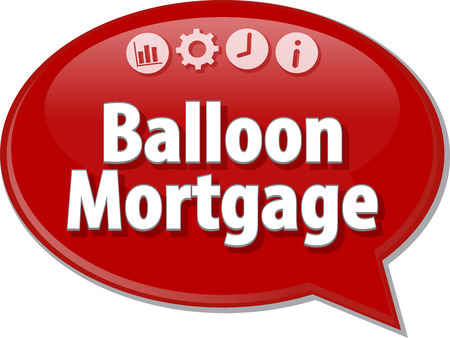 mortgage: Speech bubble dialog illustration of business term saying Balloon Mortgage