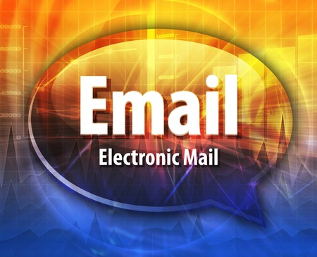 abbreviation: Speech bubble illustration of information technology acronym abbreviation term definition Email electronic mail