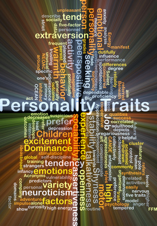 variety: Background concept wordcloud illustration of personality traits glowing light