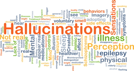 epilepsy: Background concept wordcloud illustration of hallucination