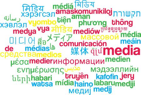 multilanguage: Background concept wordcloud multilanguage international many language illustration of media
