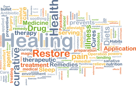 curative: Background concept wordcloud illustration of healing