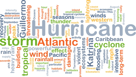 hurricane: Background concept wordcloud illustration of hurricane