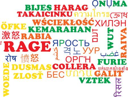 rage: Background concept wordcloud multilanguage international many language illustration of rage Stock Photo