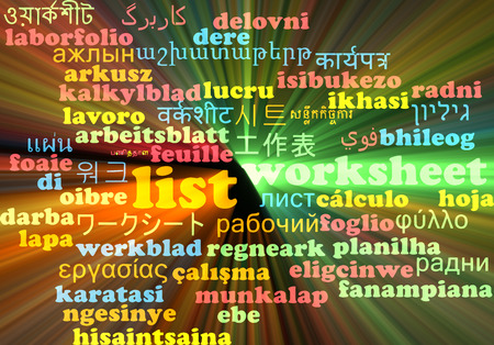 enlist: Background concept wordcloud multilanguage international many language illustration of list glowing light Stock Photo