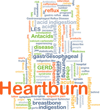 heart burn: Background concept wordcloud illustration of heart burn