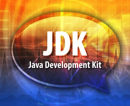 java: Speech bubble illustration of information technology acronym abbreviation term definition JDK Java Development Kit