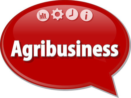 agribusiness: Speech bubble dialog illustration of business term saying Agribusiness