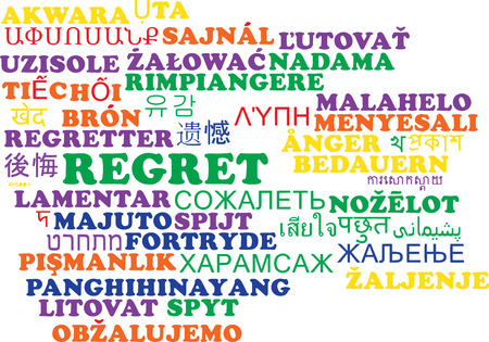 regret: Background concept wordcloud multilanguage international many language illustration of regret