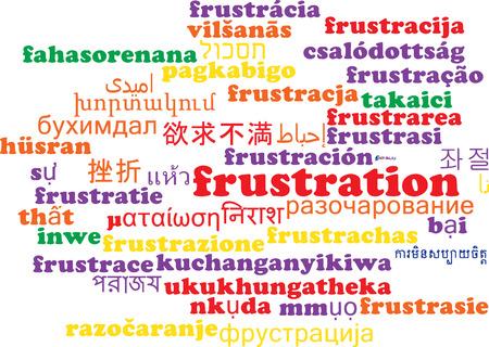frustrating: Background concept wordcloud multilanguage international many language illustration of frustration