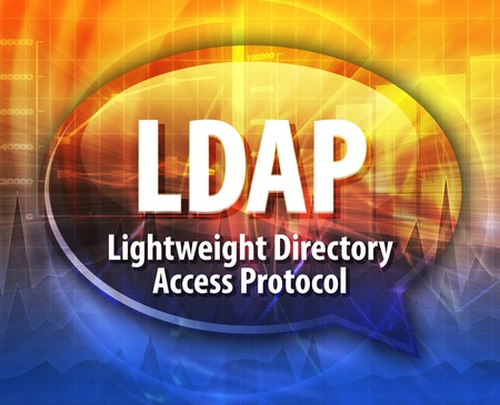 directory: Speech bubble illustration of information technology acronym abbreviation term definition LDAP Lightweight Directory Access Protocol
