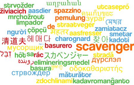 recolector de basura: Background concept wordcloud multilanguage international many language illustration of scavenger Foto de archivo