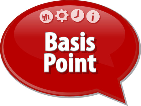 Basis: Speech bubble dialog illustration of business term saying Basis Point Stock Photo