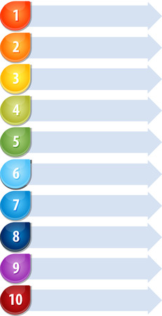 numbers icon: Blank business strategy concept infographic diagram illustration Bullet List Ten Stock Photo