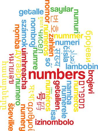 multilanguage: Background concept wordcloud multilanguage international many language illustration of numbers Stock Photo