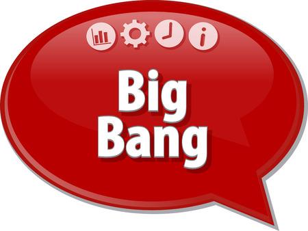 the big bang: Speech bubble dialog illustration of business term saying Big Bang Stock Photo