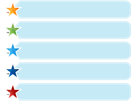 five star: Blank business strategy concept infographic diagram illustration Star List Five