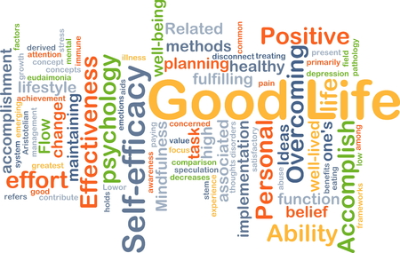 fulfilling: Background concept wordcloud illustration of good life