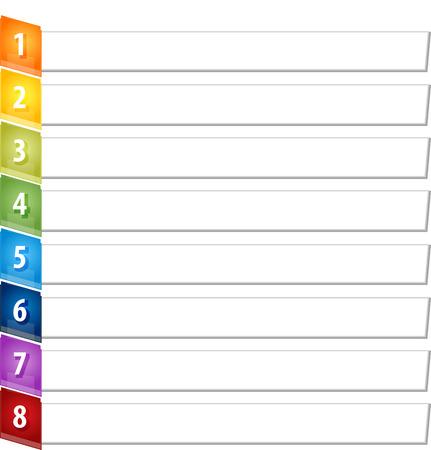 slant: Blank business strategy concept infographic diagram illustration Slant Items Eight