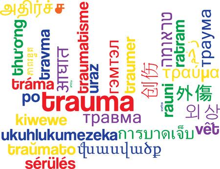 trauma: Background concept wordcloud multilanguage international many language illustration of trauma