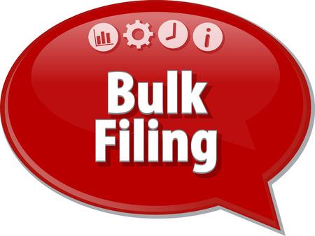 filing: Blank business strategy concept infographic diagram illustration Bulk Filing