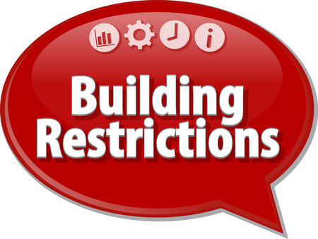 restrictions: Blank business strategy concept infographic diagram illustration Building Restrictions Stock Photo