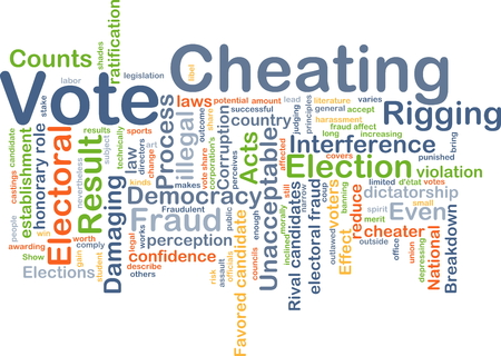 favored: Background concept wordcloud illustration of vote cheating