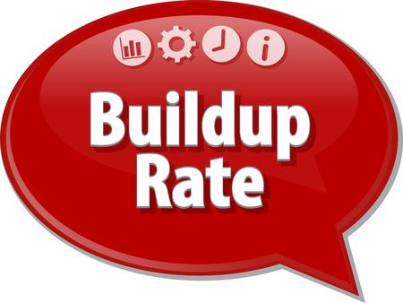 buildup: Blank business strategy concept infographic diagram illustration Buildup Rate