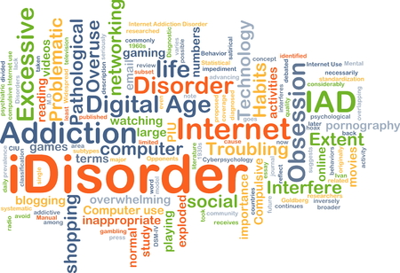 overuse: Background concept wordcloud illustration of idisorder