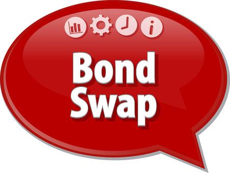 bond: Speech bubble dialog illustration of business term saying Bond Swap