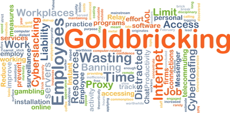 proxy: Background concept wordcloud illustration of goldbricking