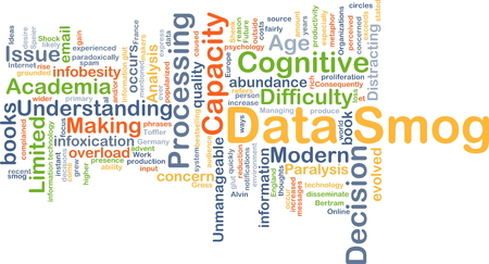 paralysis: Background concept wordcloud illustration of data smog