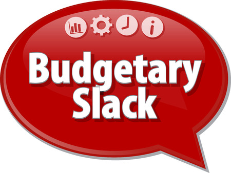 budgetary: Blank business strategy concept infographic diagram illustration Budgetary Slack